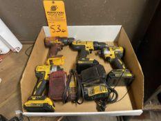 Lot of Dewalt Cordless Power Tools