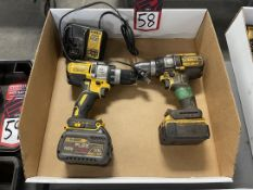 Lot of (2) DEWALT Cordless Drills