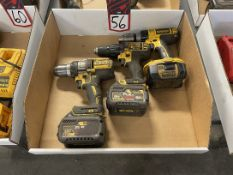 Lot of (3) DEWALT Cordless Drills