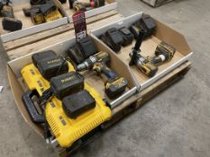 Lot Comprising DEWALT Cordless Drills, Charger and Batteries