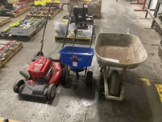 """Lot Consisting of (1) Troy Built TE230 21"""" Lawn Mower, (1) Earthway Broadcast Spreader, (1)"""