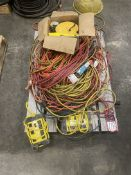 Pallet of Assorted Extension Cords and Power Strips