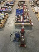 Lot Consisting (1) Equiprite 5100777 50-Ton Air Bottle Jack (1) Unknown Make Forklift Jack