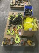 Pallet consisting of lifting Magnets, Plate Lifters, Hoist Rings, Slings and Lifting Chains