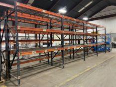 "(8) Sections of Pallet Racking, approx. 42"" Deep x 96"" Shelves x 120"" High"