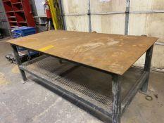"""46"""" x 96"""" x 3/8 Steel Top Work Bench"""