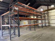 """(9) Sections of Pallet Racking, Approx 42"""" Deep x 96"""" and 144"""" Shelves, 120"""" and 192"""" High"""