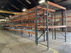 "(11) Sections of Pallet Racking, approx. 42"" Deep x 96"" Shelves x 120"" High"
