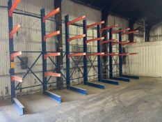 """Lot of Cantilever Racking with Approx 48"""" Support Arms"""