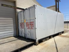 20' Sea Container set up with Electrical Outlets, Lights and a 1/2 Ton Crane