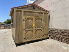 """Outdoor Storage Shed 120"""" x 144"""" x 93"""" Inside Height"""