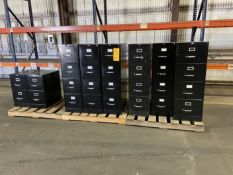 Lot of (8) File Cabinets