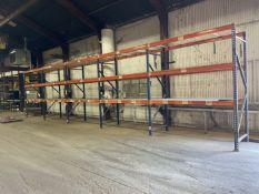 "(5) Sections of Pallet Racking, Approx 42"" Deep x 96"" Shelves x 120"" High"