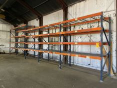 """(5) Sections of Pallet Racking, Approx 42"""" Deep x 96"""" Shelves x 120"""" and 144"""" High"""