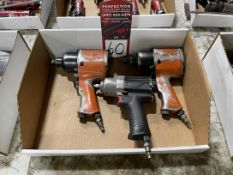 """Lot Comprising (2) Cleco 1/2"""" Drive and (1) CP 1/4"""" Pneumatic Impacts"""