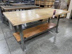 "Wood Top Work Bench, 36"" x 72"""