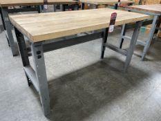 "Global Wood Top Work Bench, 30"" x 60"""