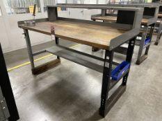 "Global Wood Top Work Bench, 36"" x 72"""
