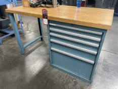 "Lista 60"" x 30"" Wood Top Work Bench"