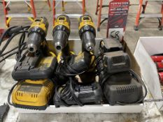Lot of DeWalt Cordless Tools w/ Batteries and Chargers