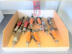 Lot of Assorted Right Angle Pneumatic Grinders