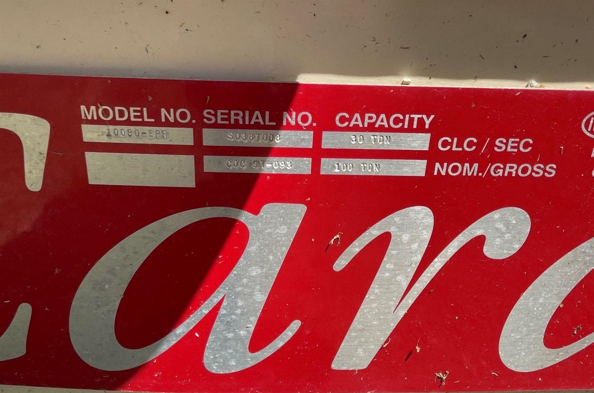 CARDINAL 10080-EPR 80' X 160,000 LBS Truck Scale, s/n S0387008, 3-Section Steel Deck, (2) Digital - Image 5 of 7