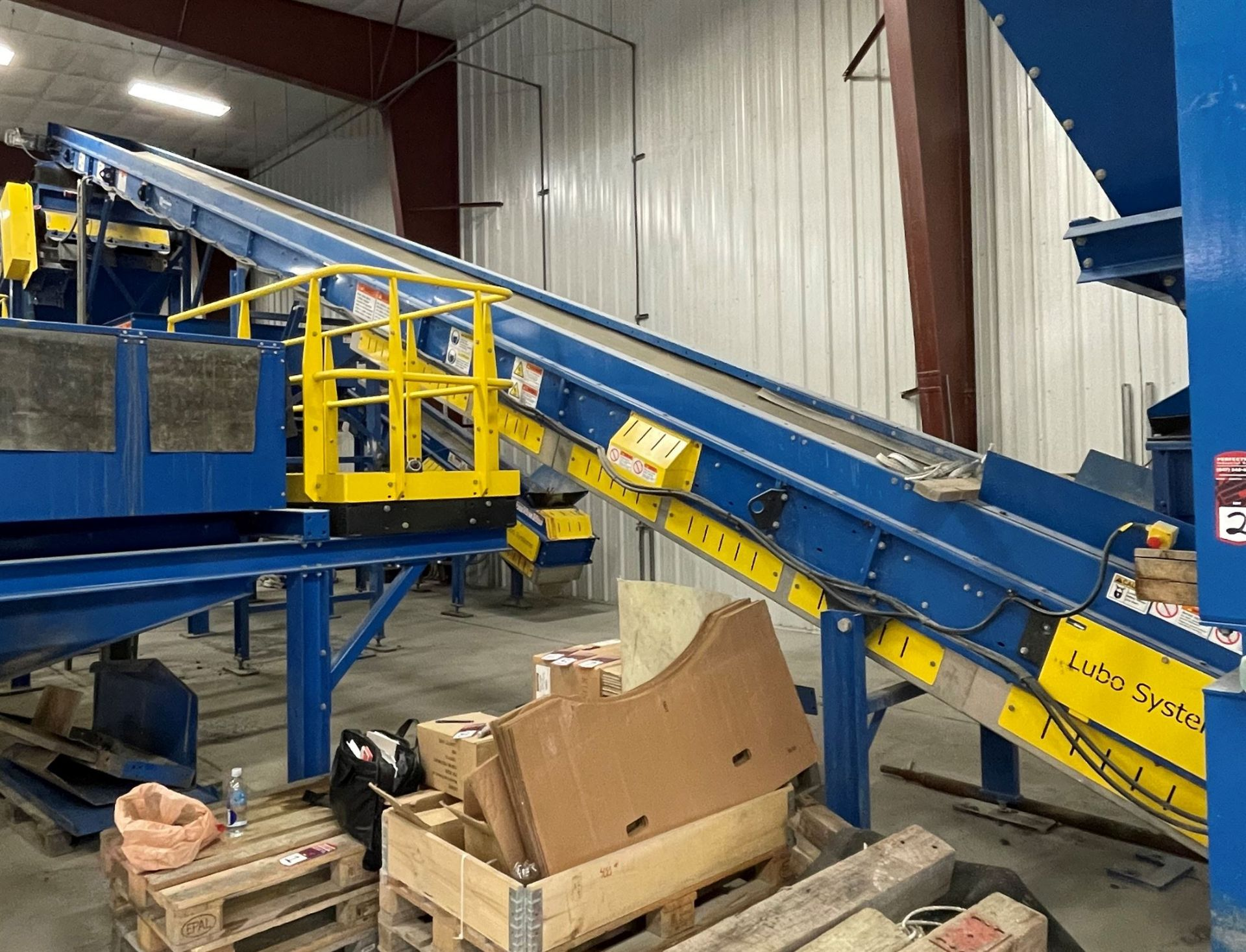2015 LUBO SYSTEMS TBL 1000x15000 Inclined Belt Conveyor, s/n 800108-0040, 1000mm x 5000mm, SEW 3.7 - Image 5 of 5