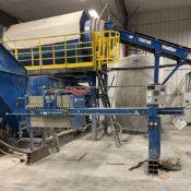 M.W. WATERMARK Filter Press, s/n NA, w/ 20 Filter Plates, Air Hydraulics [Subject to Bulk Bid on Lot