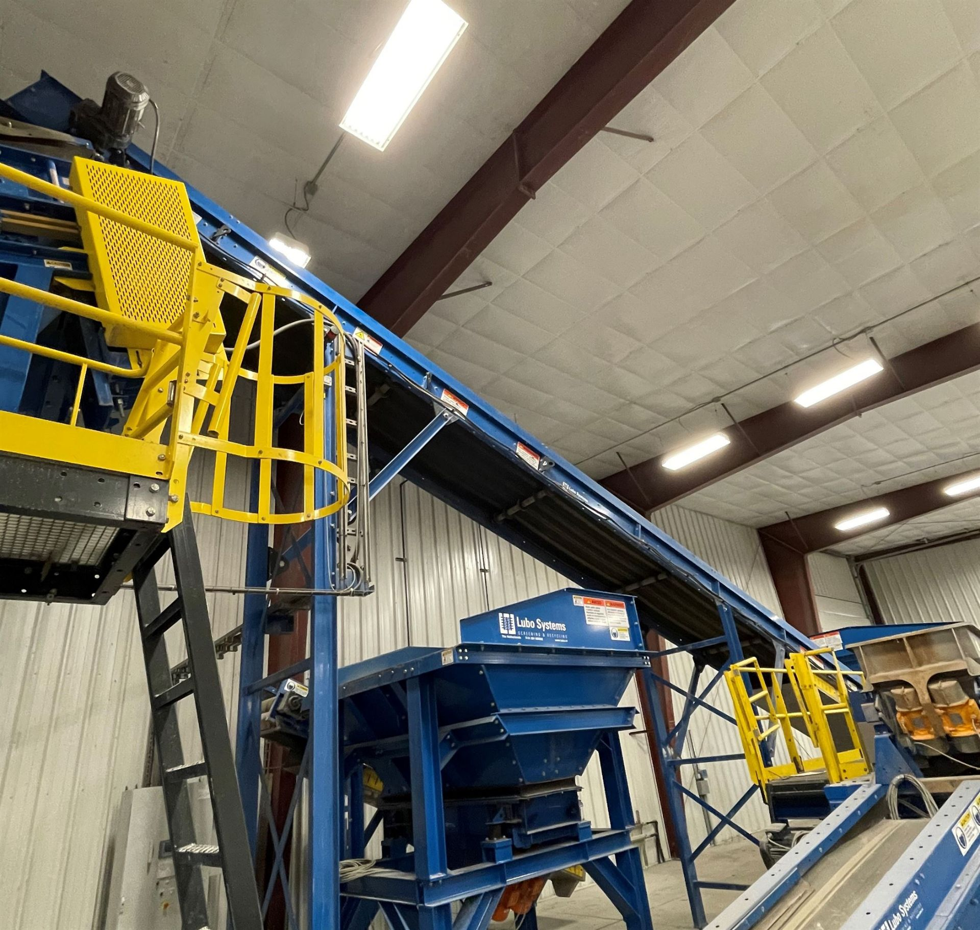 2015 LUBO SYSTEMS TBL 1000x15000 Inclined Belt Conveyor, s/n 800108-0040, 1000mm x 5000mm, SEW 3.7 - Image 3 of 5