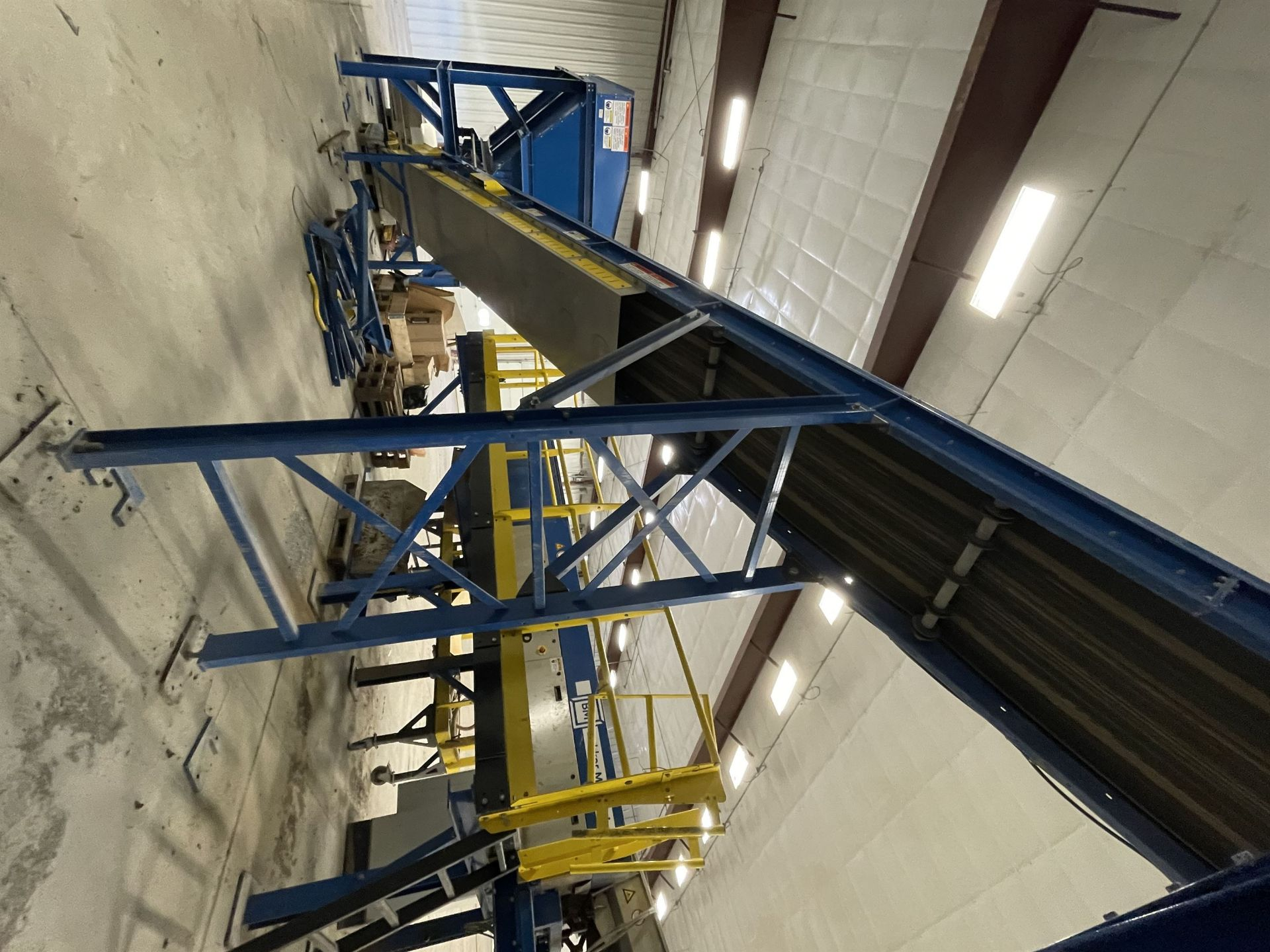 2015 LUBO SYSTEMS TBL 1000x15000 Inclined Belt Conveyor, s/n 800108-0040, 1000mm x 5000mm, SEW 3.7 - Image 4 of 5