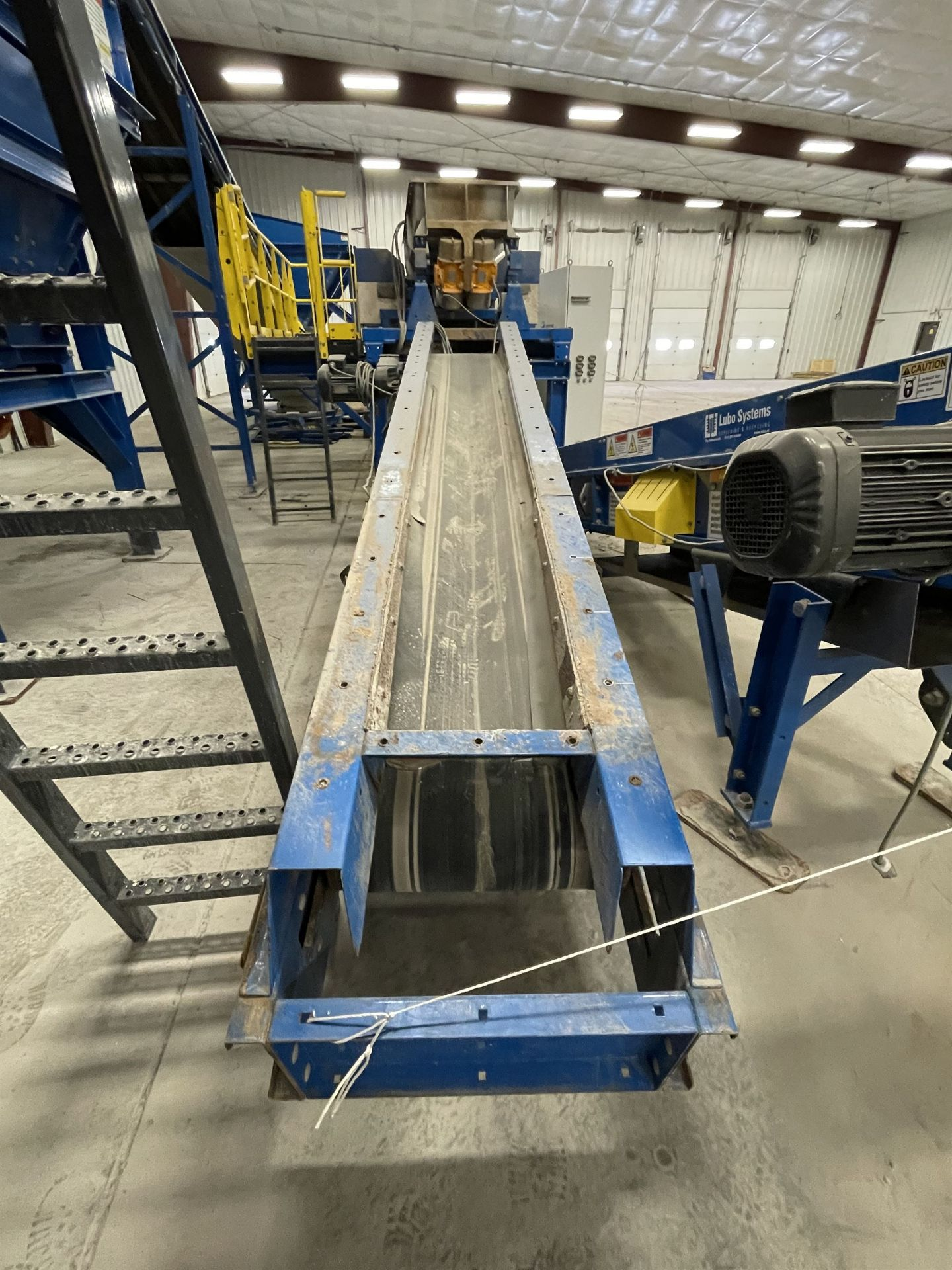 2015 LUBO SYSTEMS TBL 600x3500 Inclined Belt Conveyor, s/n 800108-0280, 600mm x 3500mm, SEW 3.7 kW - Image 4 of 5