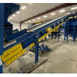 2015 LUBO SYSTEMS TBL 1000x15000 Inclined Belt Conveyor, s/n 800108-0040, 1000mm x 5000mm, SEW 3.7