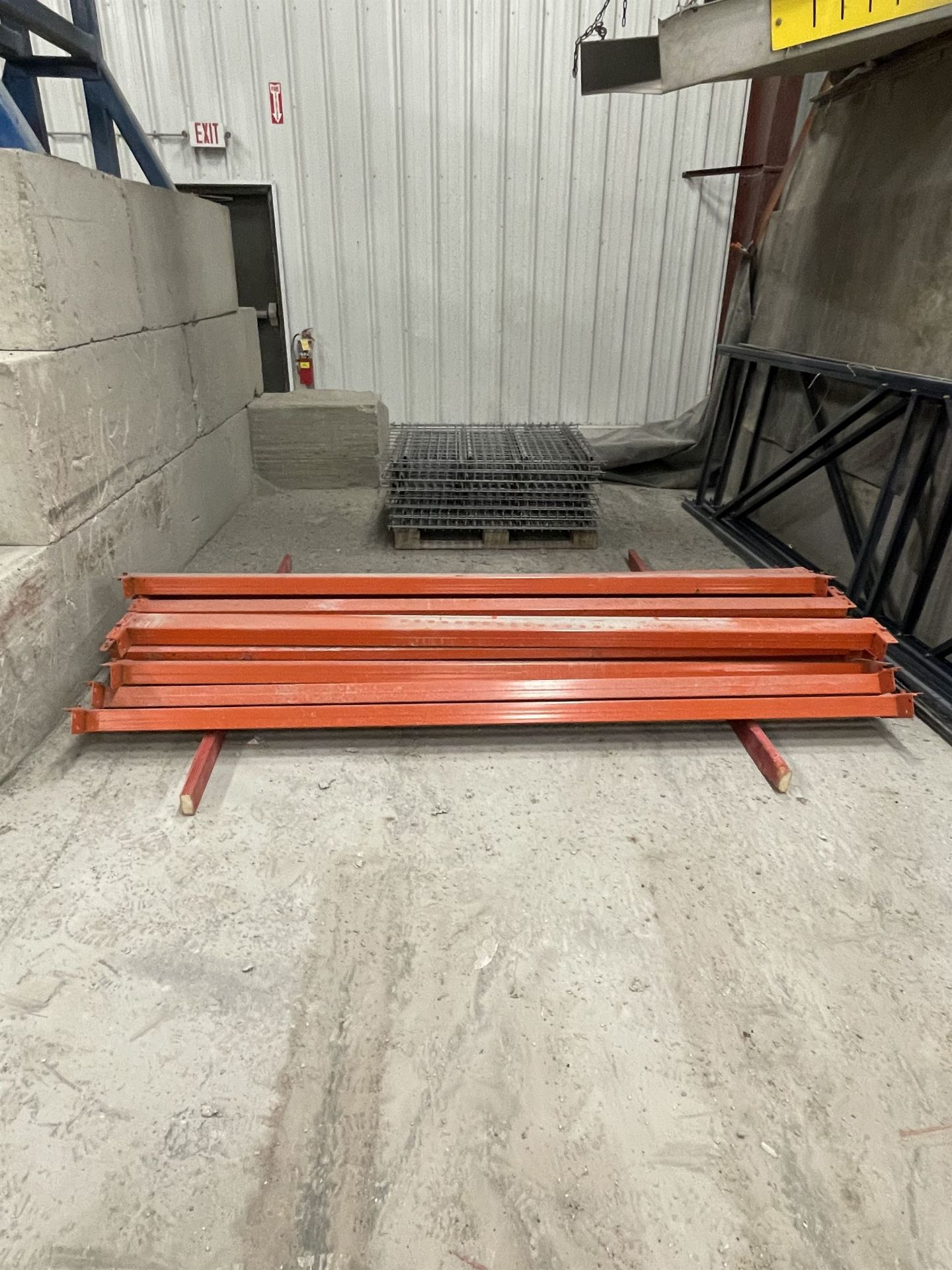 Pallet Racking (3) Uprights, (10) Beams, and (10) Sections of Wire Deck Shelves - Image 2 of 4