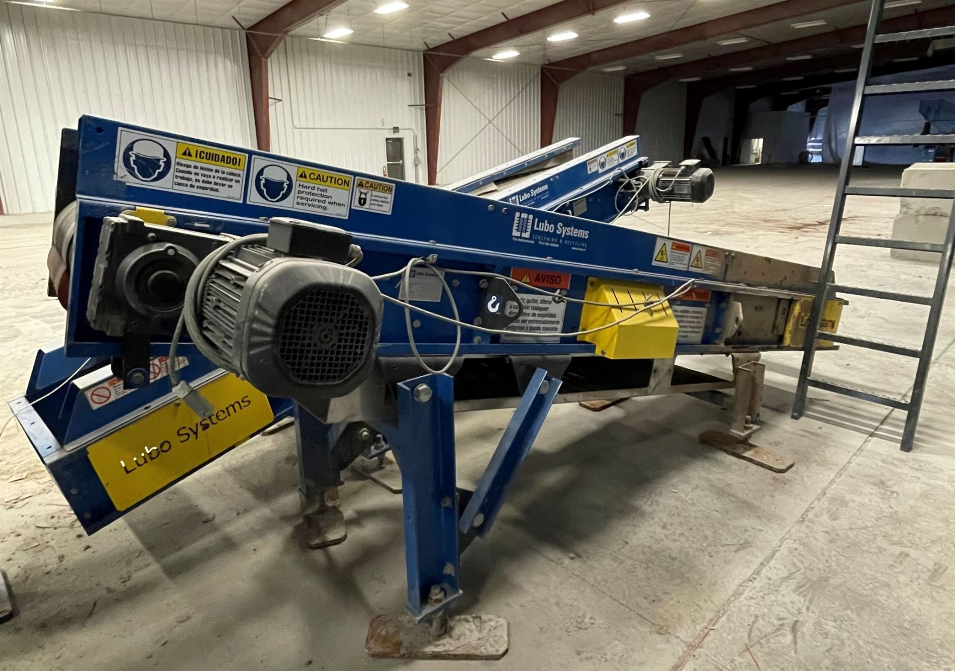 2015 LUBO SYSTEMS TBL 600x3500 Inclined Belt Conveyor, s/n 800108-0280, 600mm x 3500mm, SEW 3.7 kW - Image 3 of 5
