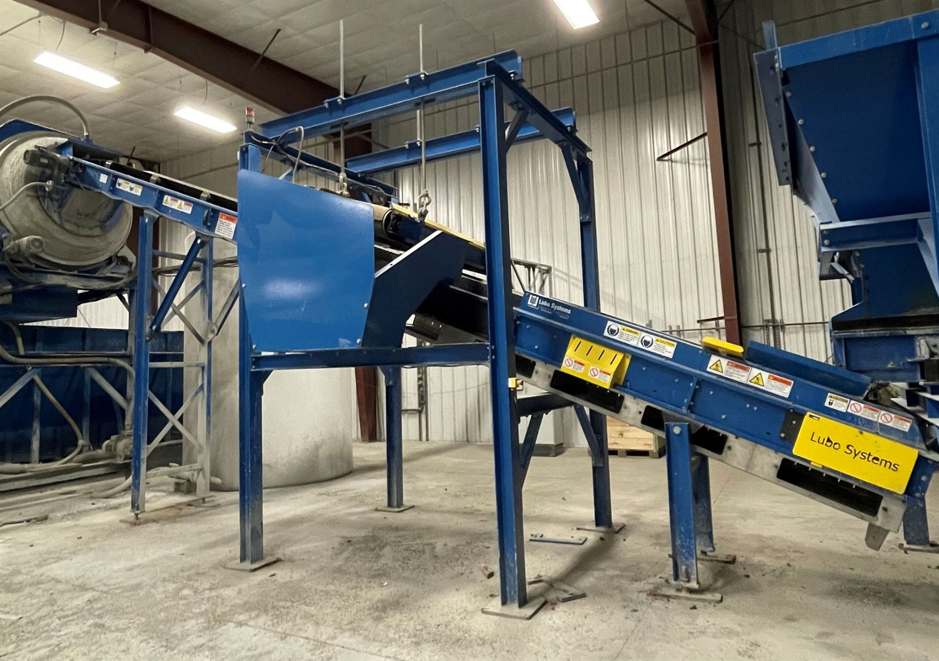 2015 LUBO SYSTEMS TBL 600x9500 Inclined Belt Conveyor, s/n 800108-0130, 600mm x 9500mm, SEW 3.7 kW - Image 2 of 3