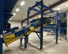 2015 LUBO SYSTEMS TBL 600x9500 Inclined Belt Conveyor, s/n 800108-0130, 600mm x 9500mm, SEW 3.7 kW