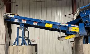 2015 LUBO SYSTEMS TBL 1000x5000 Inclined Belt Conveyor, s/n 800108-080, 1000mm x 5000mm, SEW 3.7