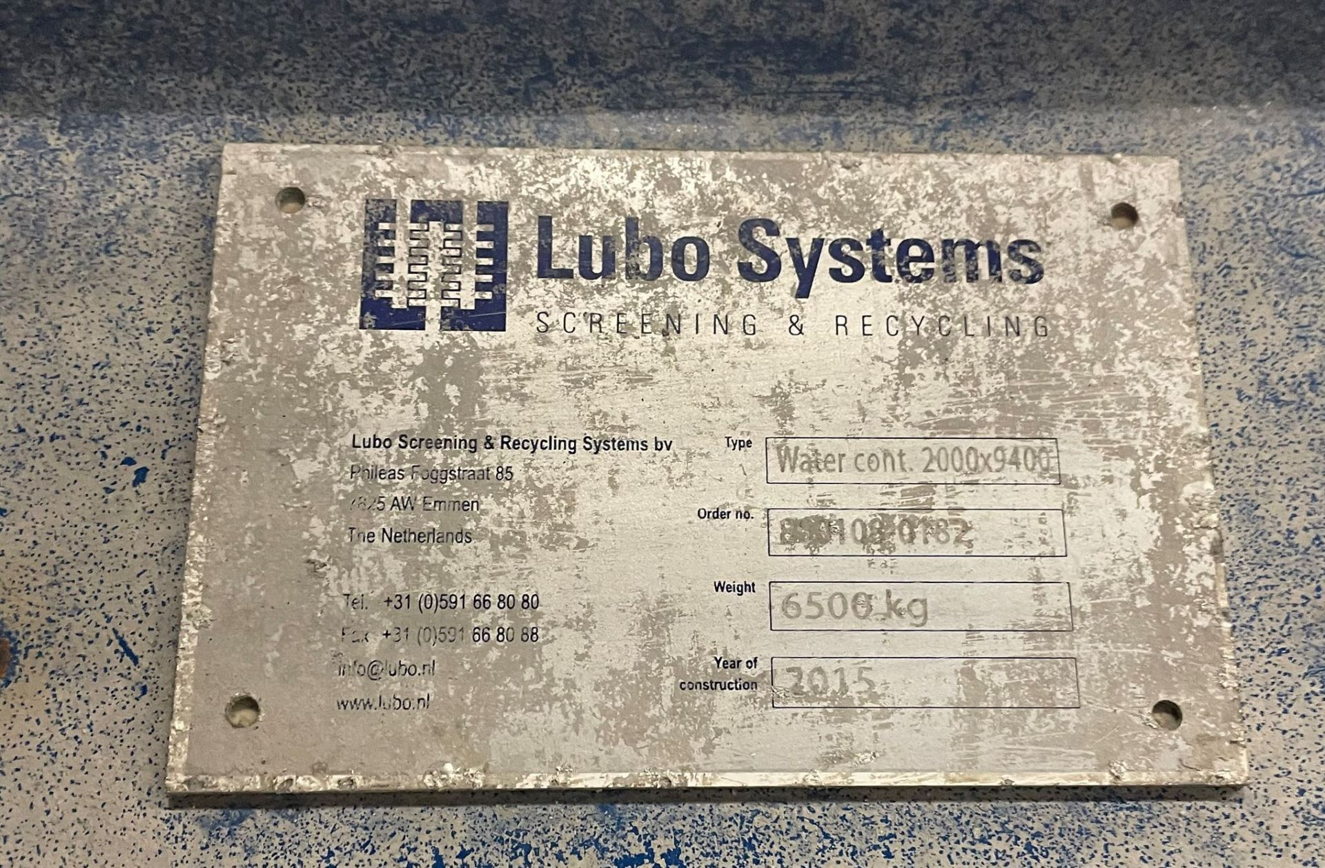 2015 LUBO SYSTEMS WATER CONT. 2000x9400 Settling Tank, s/n 800108-0182, 20 m³ Waterbath Capacity [ - Image 5 of 5
