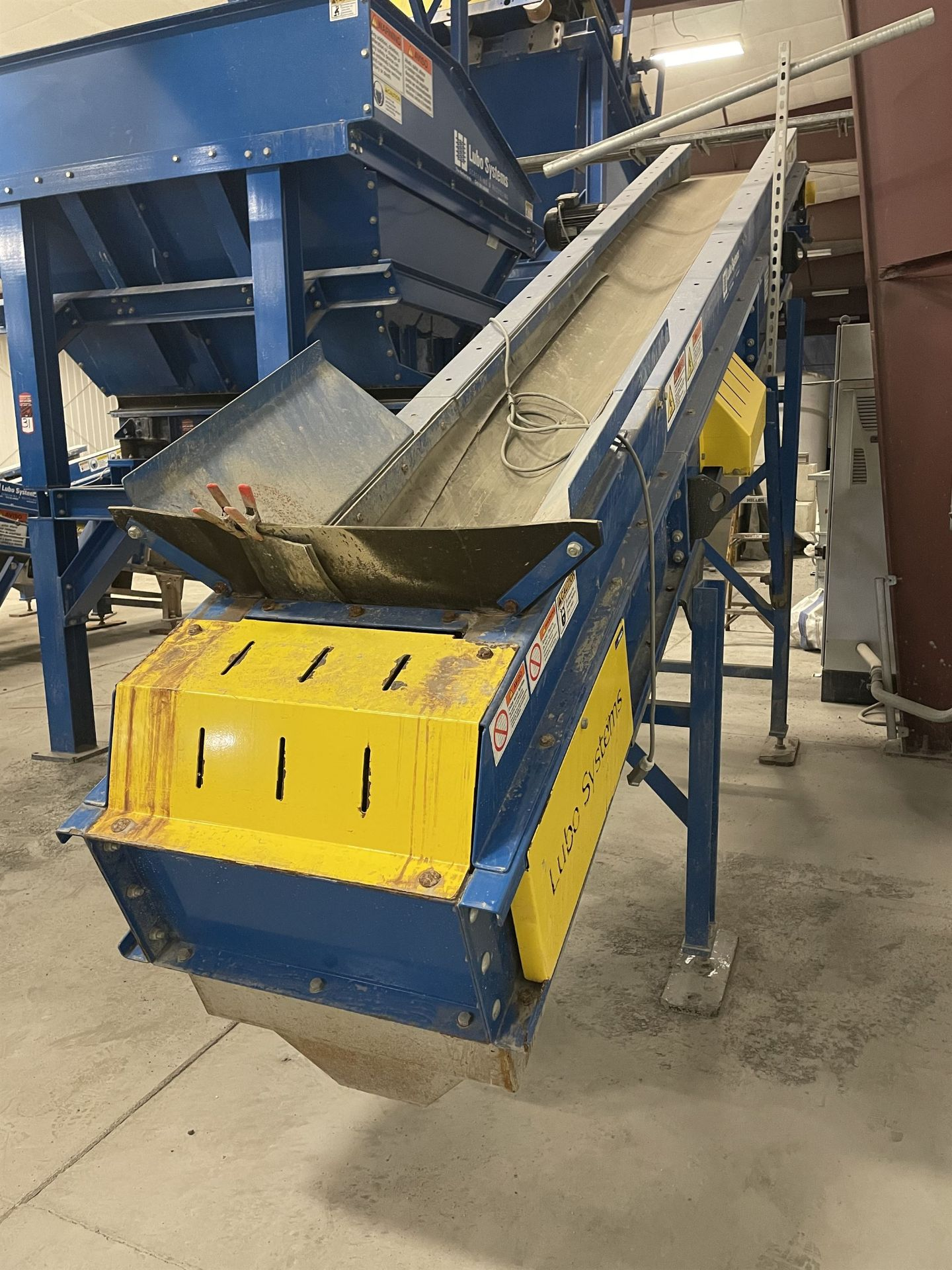 2015 LUBO SYSTEMS TBL 600x4500 Inclined Belt Conveyor, s/n 800108-0230, 600mm x 4500mm, SEW 3.7 kW - Image 2 of 5