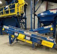 2015 LUBO SYSTEMS TBL 600x3500 Inclined Belt Conveyor, s/n 800108-0220, 600mm x 3500mm, SEW 3.7 kW