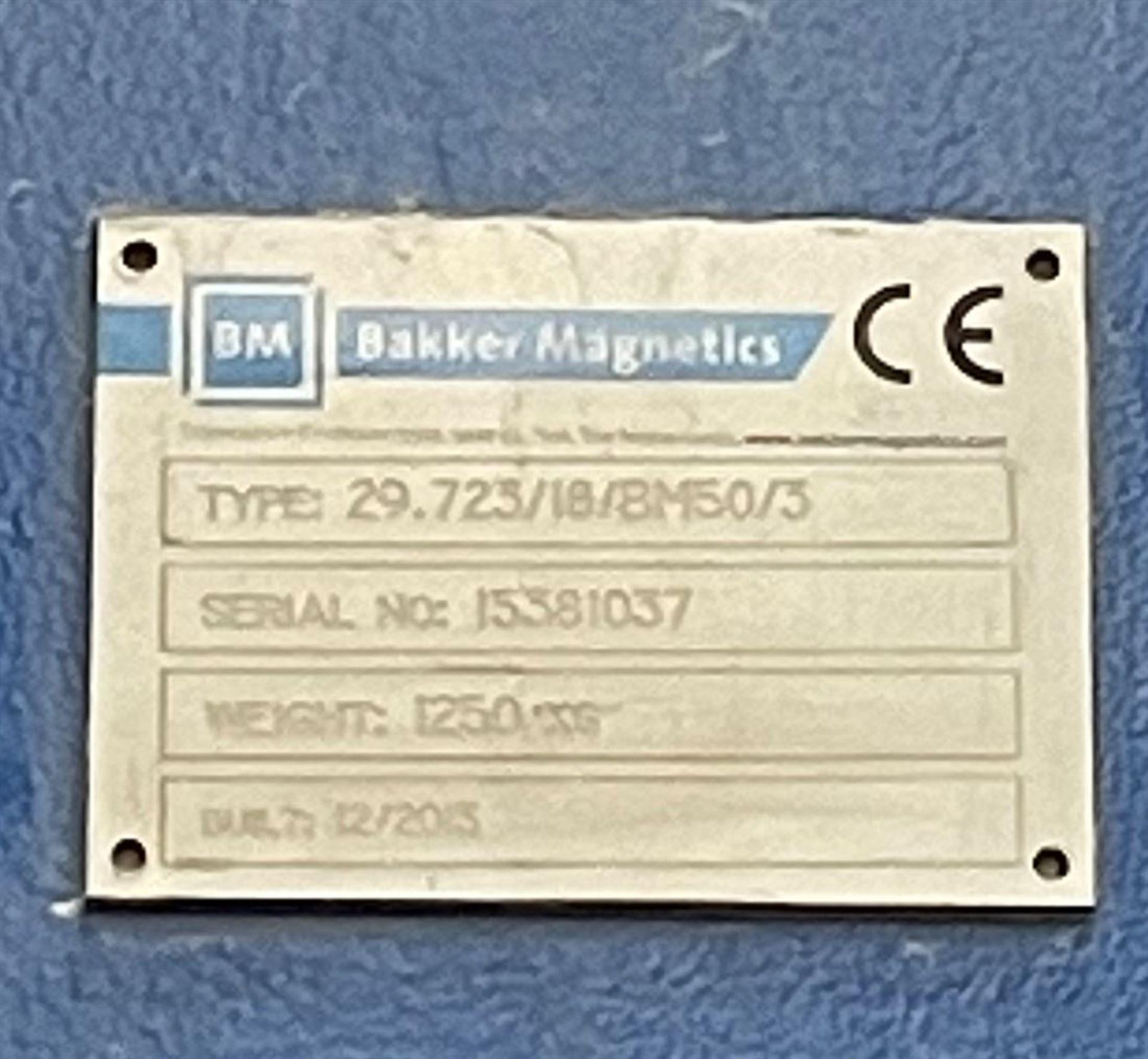 """2013 BAKKER MAGNETICS 29.723/18/BM50/3 Non-Ferrous Magnet Separator, s/n 15381037, Approx. 30""""W x - Image 6 of 6"""