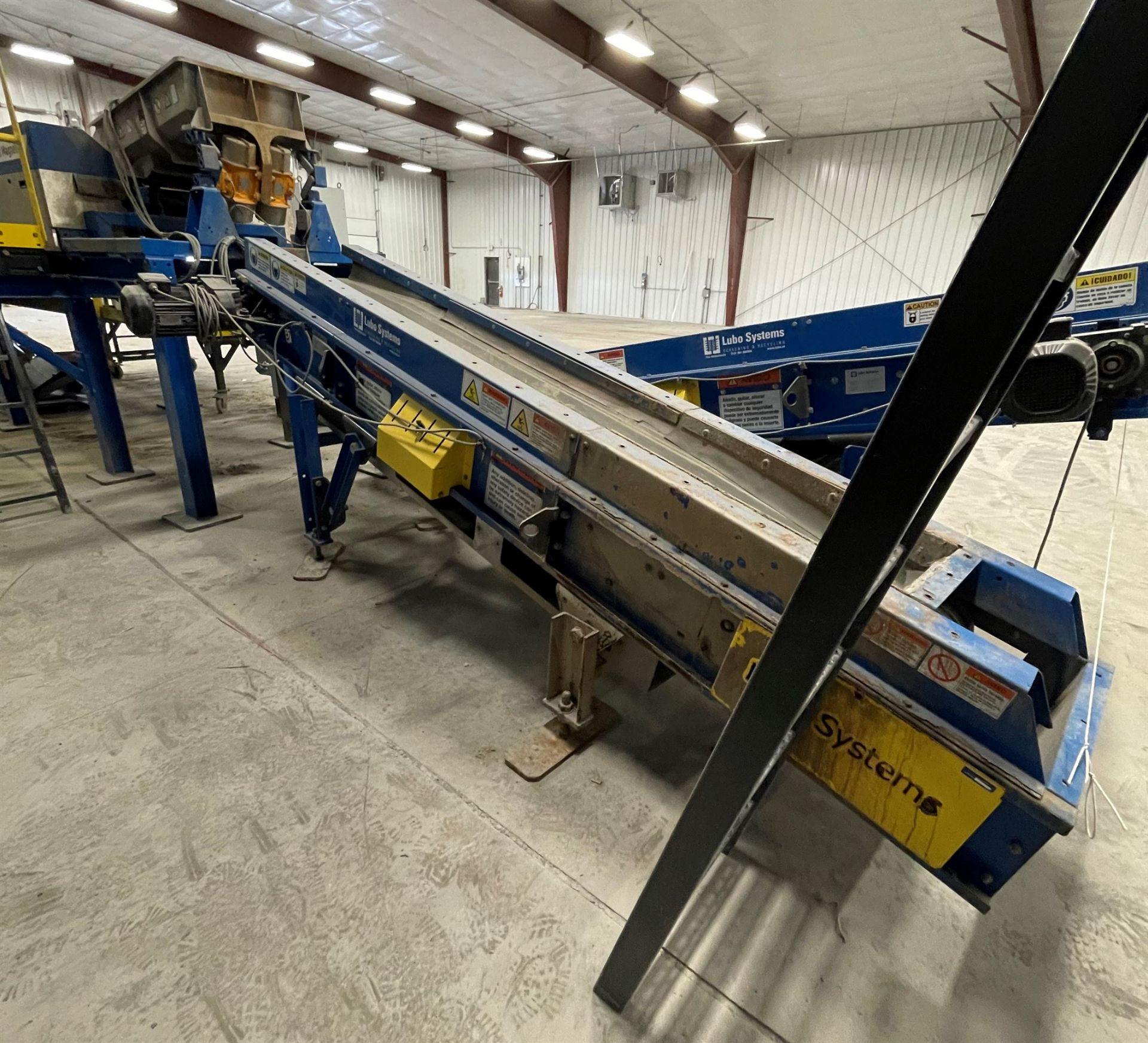 2015 LUBO SYSTEMS TBL 600x3500 Inclined Belt Conveyor, s/n 800108-0280, 600mm x 3500mm, SEW 3.7 kW - Image 2 of 5