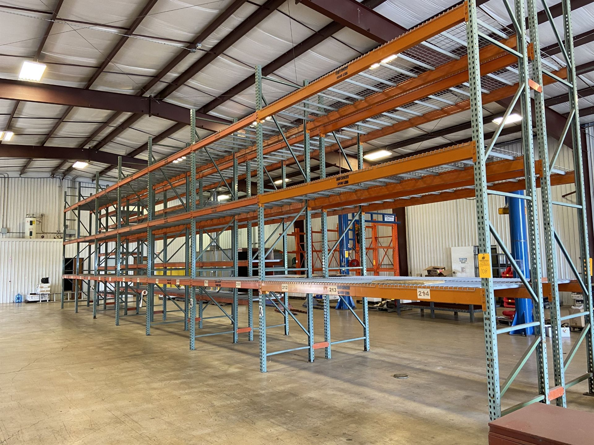 (7) Sections of Racking (6) 8'W and (1) 12' W x 18' High