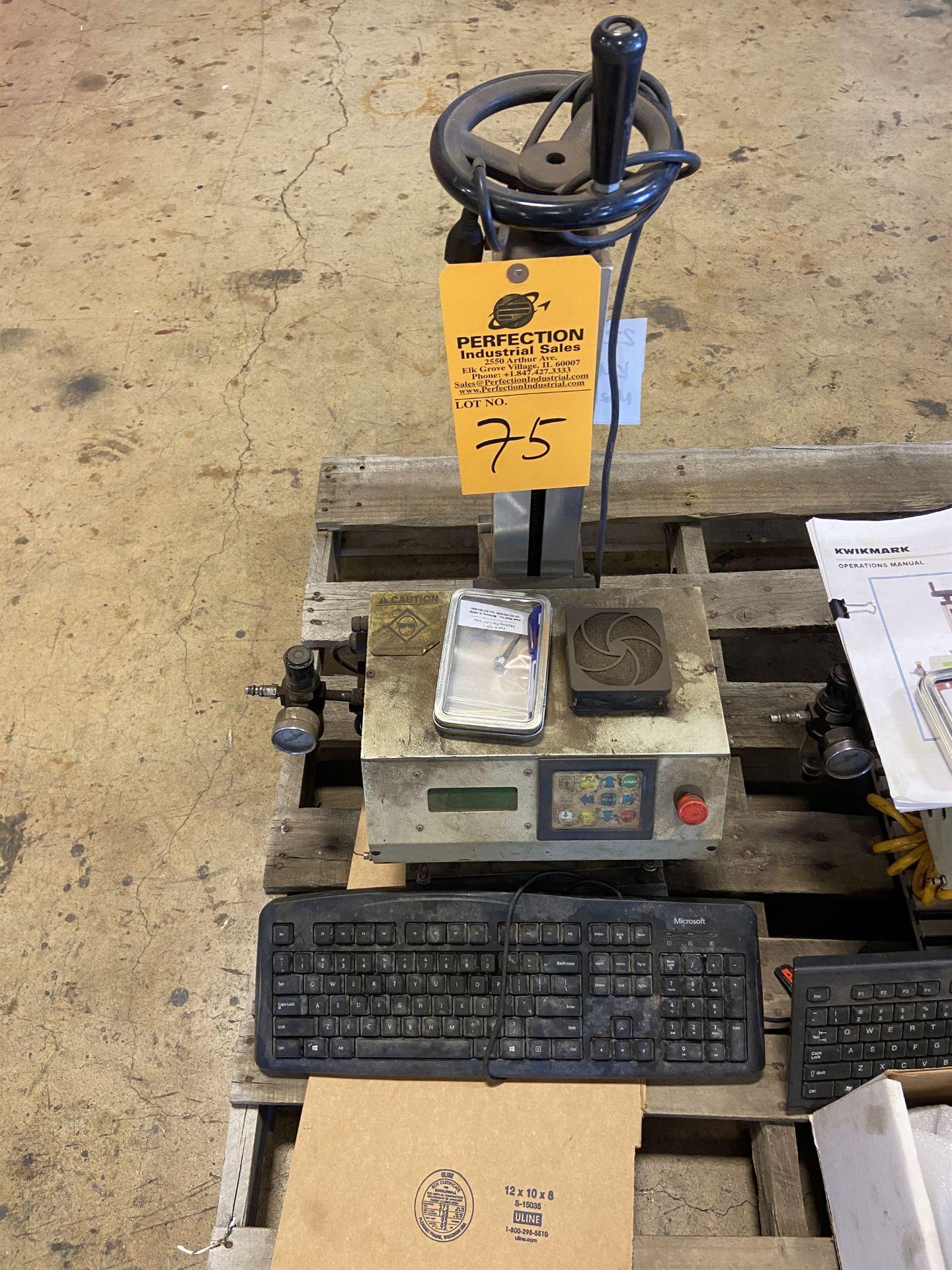 Kwikmark Model KM-64 Marking Machine on Stand s/n 3533-1404
