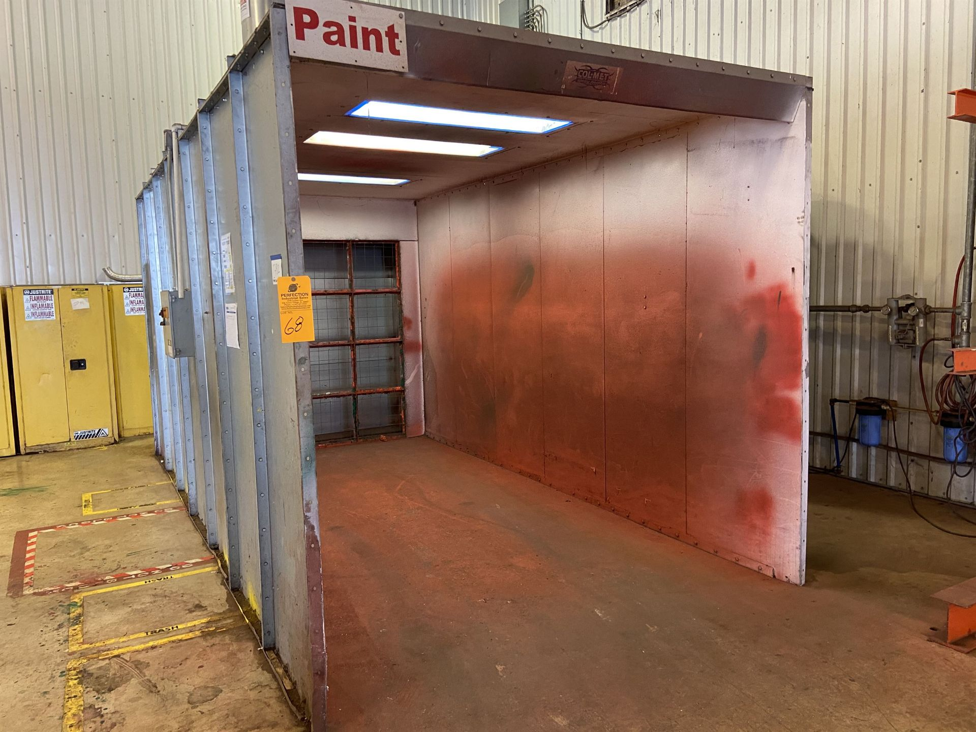 """Colmet 96"""" x 170"""" x 90"""" High Free Standing Paint Booth with Exhaust"""