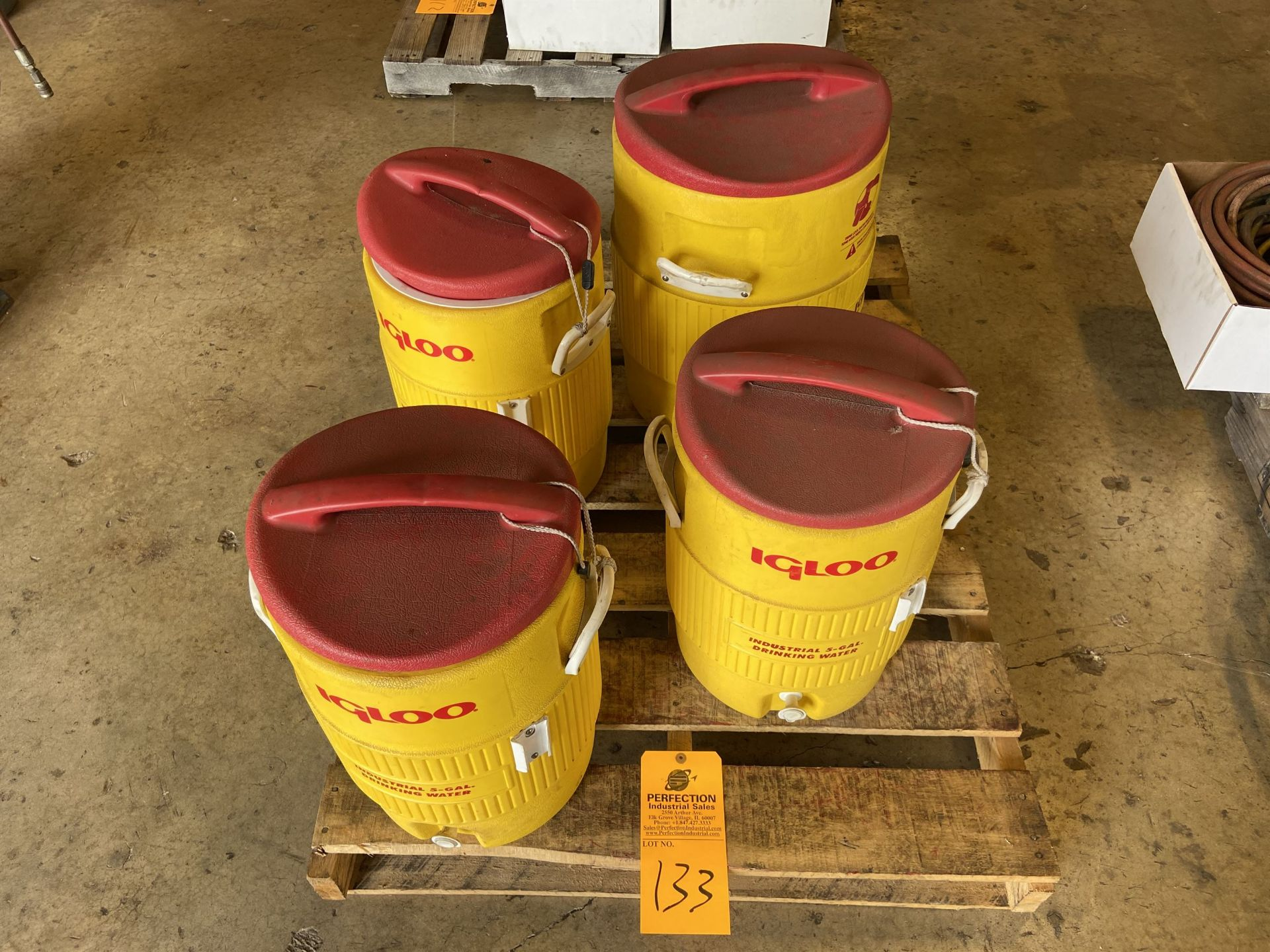 Lot of (4) Igloo Water Coolers