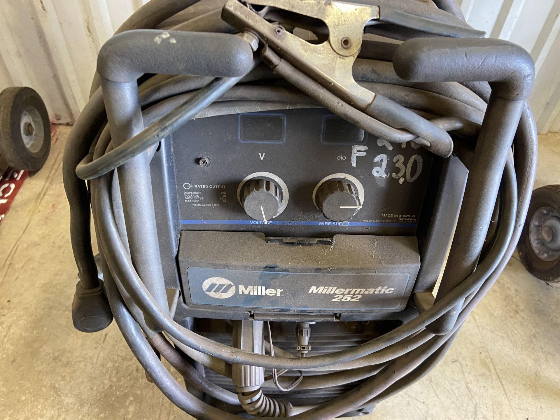 Millermatic 252 Welder s/n MB51056ON on Cart with Extension Cords - Image 2 of 3