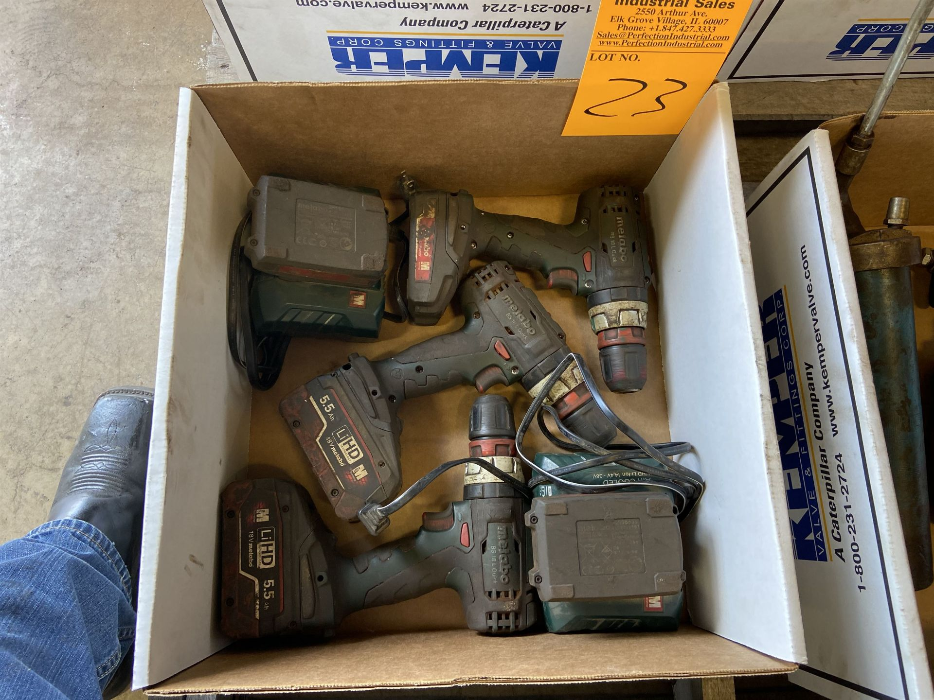 Lot of Metabo Cordless Drills plus Chargers