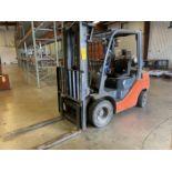 """Toyota Model 8FGU 25 LP 4500 Lb LP Forklift, 189 Lift, 3 Stage, 48"""" Forks, Side Shift, Solid"""
