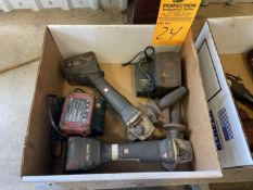 Lot of (2) Metabo Cordless Grinders plus Chargers